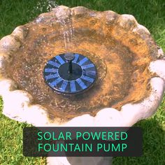 garten videos Solar Powered Fountain Pump Just put the pump on the water, the fountain will auto-pump once the solar panel gets sunlight. The brighter the sun, the better the effect of the fountain spill. Shop Now To Save Garden Steps, Easy Garden, Cool Garden Ideas, Garden Pond, Very Small Garden Ideas, Cheap Raised Garden Beds, Fish Pond Gardens, Spiral Garden, Raised Garden Bed Plans