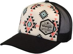 Wrangler Women's 6 Panel Twill, Mesh Back Cap, Black at Amazon Women's Clothing store Cute Cowgirl Outfits, Country Style Outfits, Southern Outfits, Rodeo Outfits, Cowgirl Hats, Western Hats, Cowgirl Chic, Western Chic, Western Outfits