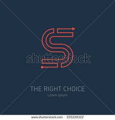 Vector logo design template, letter S. Concept idea of the right choice. The way out of the maze.