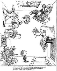 Everything & Nothing: Quino - ¡Yo no fui! Arte Nerd, Lucky Luke, Magazine Illustration, Everything And Nothing, Humor Grafico, Amazing Adventures, Funny Comics, Caricature, Drawings