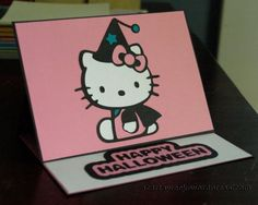 Cricut Hello Kitty Greetings: Happy Halloween #scrapbook