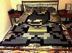 8-Bit Batman Afghan Blanket by AmandaJayne00 on deviantART