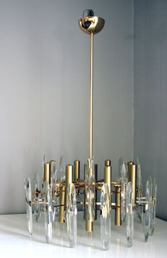 1960's Hollywood Regency Sciolari Chandelier