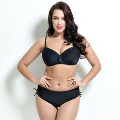 $27.00 (Buy here: https://alitems.com/g/1e8d114494ebda23ff8b16525dc3e8/?i=5&ulp=https%3A%2F%2Fwww.aliexpress.com%2Fitem%2FSolid-plus-size-bikini-set-two-piece-nylon-swimwear-sexy-summer-beach-swimsuit-large-size-cup%2F32682205513.html ) Solid plus size bikini set two-piece nylon swimwear sexy summer beach swimsuit large size cup women 2016 tankini bathing suit for just $27.00