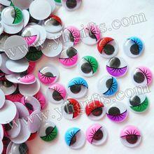 2000PCS/LOT,2cm colorful eyelash wiggle eyes,Plastic eyeball,Doll eyes,Craft material Handmade toys,Craft work,Wholesale(China (Mainland))