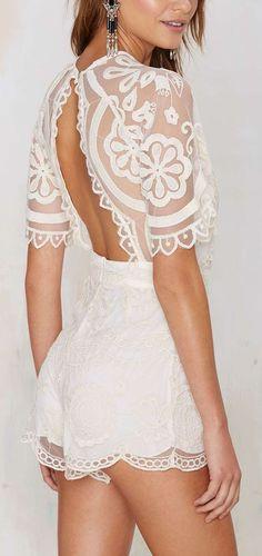 pretty lace romper