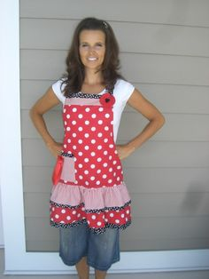 love this - red polka dots
