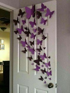 Paper Wall 3D Butterfly