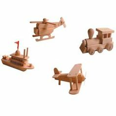 Crafty Wrens' Wooden Boat, Train, Helicopter & Plane Kits