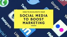 8 Ways to Accelerate your Social Media to Boost #Marketing - The top ways to accelerate your #socialmedia in order to boost awareness and #influence of your #business.