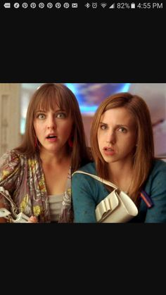 Katharine Isabelle (Ava Wilson) and Emily Perkins (Becky Rosen) in Disney Channel's Another Cinderella Story.