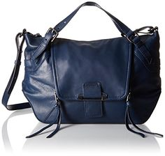 Kooba Handbags Gwenyth Smooth Satchel, Navy *** Check this awesome product by going to the link at the image.