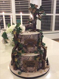 Deer Hunting Birthday Cake  @abfab cakes Kew