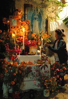 Creating a Día de los Muertos Altar, the Kitchen [ MexicanConnexionforTile.com ] #culture #Talavera #Mexican