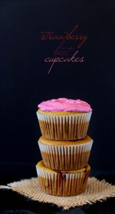 Strawberry Beet Cupcakes.