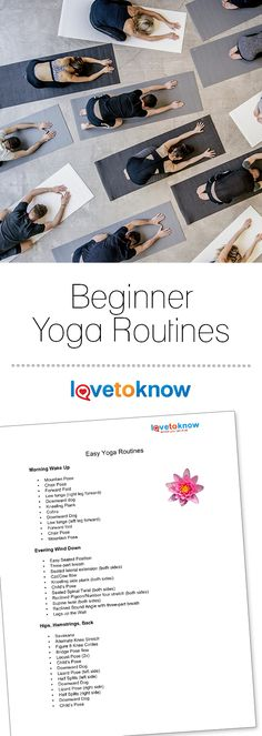 Whether you're new to yoga, returning after some time off or just want to fine tune basic poses, the following sequences will provide a thorough and balanced practice to add to your day. #Yoga #BeginnerYoga #Namaste  Beginner Yoga Routines from #LoveToKnow