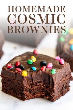 Copycat Cosmic Brownies are ultra rich, fudgy, and chewy just like the kind you buy at the store from Little Debbie but oh so much better with no preservatives! The BEST easy from-scratch homemade recipe made with cocoa powder, no box mix here. Easy Desserts, Delicious Desserts, Dessert Recipes, Yummy Food, Yummy Snacks, Cosmic Brownies, Best Brownies, Blondie Brownies, No Bake Brownies
