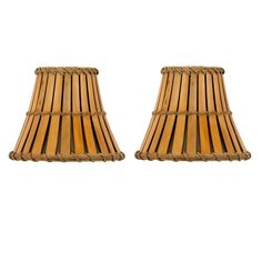 Upgradelights® Set of 2 Bamboo Style Mini 4 Inch Clip on Chandelier Lamp Shade *** Visit the image link more details. (This is an affiliate link and I receive a commission for the sales)