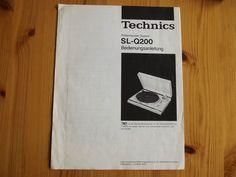 TECHNICS SLQ200 Plattenspieler System T4P Bedienungsanleitung Gebrauchsanleitung