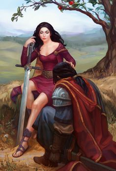 morgan le fay king arthur - Bing Images - Morganna and Arthur of The Silurian? Dark haired, yes, I like this image.