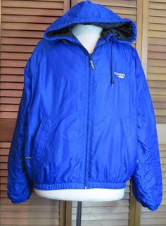 Stearns Dry Wear Royal Blue size Large Rain Coat Men's Quilted Lining #Stearns #Rainwear