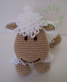 Lamb crochet pattern --  so cute!