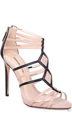 Alexandre Birman SS 2014 - rose pink & black sandals