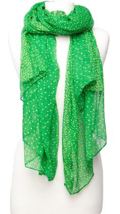 Dot Print Scarf, Green by Violet Del Mar