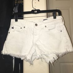 AG denim cutoffs (negotiable on price!!) white mary jane low rise cutoffs AG Adriano Goldschmied Shorts Jean Shorts