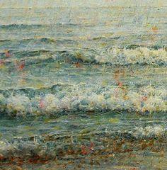 Detalle de atardecer en el mar.