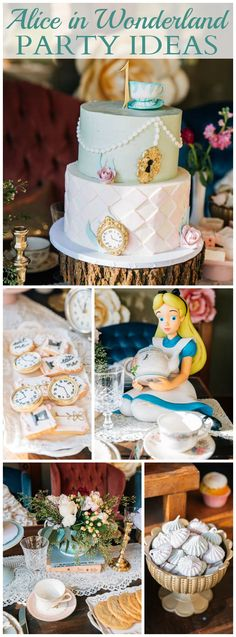 What a whimsical Alice in Wonderland tea party! See more party ideas at CatchMyParty.com!