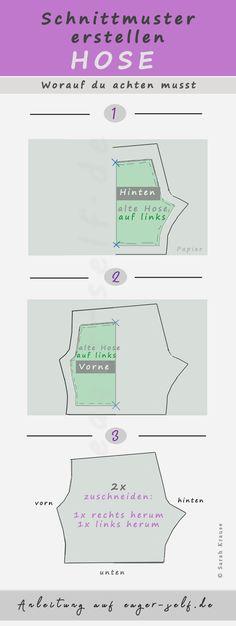 Gut sitzende Hose selber nähen: Mit dieser Anleitung kannst du ein Schnittmuster erstellen und deine Lieblingshose kopieren.