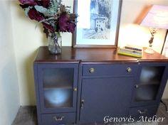 Mueble madera modernista restaurado Genoves Atelier