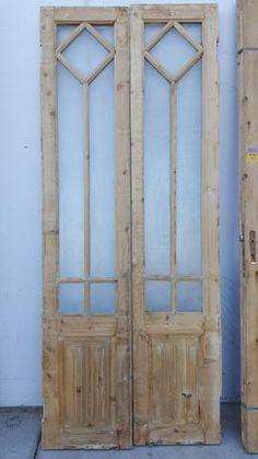 Wooden Glass Door Design Ideas For 2019 French Door Decor, Glass French Doors, French Country Decorating, Vintage Doors, Antique Doors, Wooden Glass Door, Wooden Doors, Door Makeover, Room Doors