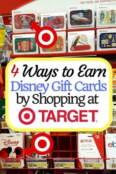 4 Ways to Earn Disney Store Gift Cards by Shopping at Target. Disney World Tickets, Walt Disney World Vacations, Family Vacations, Disney World Tips And Tricks, Disney Tips, Discount Disney Gift Cards, Disney Store Gifts, Disney Rewards, Disney Discounts
