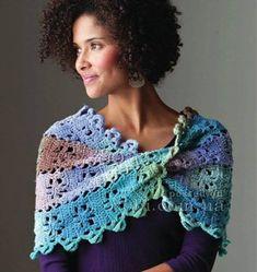 ergahandmade: Crochet Stole + Diagrams + Video Tutorial