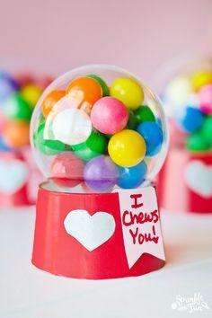 Mini Bubblegum Machine Valentines! {Tutorial} Cute Valentine's Gift Idea for kids!