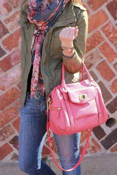 khaki+ navy+ pink