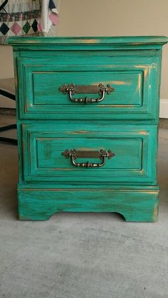 Chalk paint furniture ideas. I love this color. I'm going to do my girls night stands in this:)