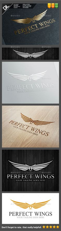 Perfect Wings - Crests Logo Templates