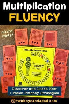 Are you teaching multiplication fluency strategies? Multiplication Activities, Math Math, Math Fractions, Math Games, Numeracy, Learning Games, Teaching Numbers, Teaching Math, Elementary Teaching