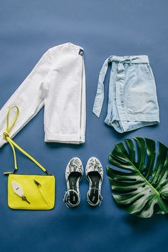 It's finally shorts-and-sandals season. Mix a pop of color with hues of white…