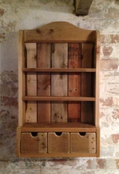 Reclaimed wood spice rack