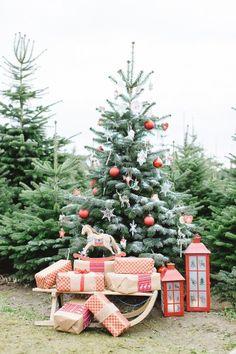 Pretty Christmas Tree: http://www.stylemepretty.com/destination-weddings/2014/12/24/festive-photo-shoot-in-germany/   Photography: Tanja Kibogo - http://www.kibogophotography.com/