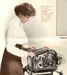 Burroughs adding machine 1913