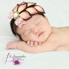 Pink, Gray & White Dahlia Felt Flower - Easter Bunny Headband - Newborn - Infant - Baby - Toddler - Girl - Teen - Adult - Photo Prop
