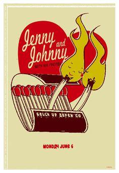 Listening: Jenny & Johnny [I'm Having Fun Now] / Matchbook gig poster