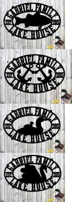 Plaques and Signs 31587: Lake House Sign - Personalized Custom Metal Lake House Sign - Steel Sign - Large -> BUY IT NOW ONLY: $154.95 on eBay!