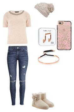 """""""Untitled #145"""" by sweet-strawberry-fairy ❤ liked on Polyvore featuring H&M, Dorothy Perkins, prAna, UGG Australia, Monica Vinader, Casetify and Happy Plugs"""