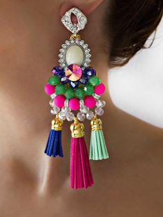 Helenadia belgrade jewelry Boho Jewelry, Jewelery, Handmade Jewelry, Pink Earrings, Bead Earrings, Baubles And Beads, Contemporary Jewellery, Designer Earrings, Statement Earrings